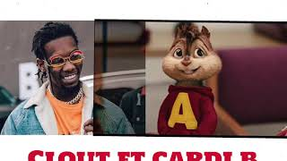 offset -  clout ft cardi b (chipmunks version)