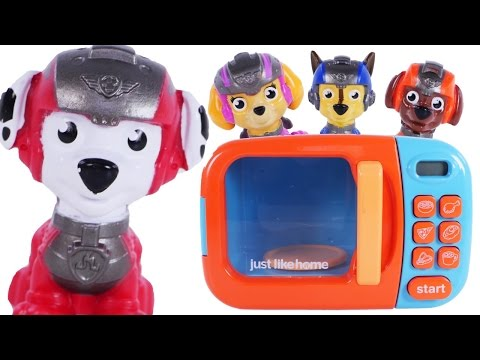 Thumbnail: Learning Colors with PAW PATROL Video - Magic Microwave Surprises for Children, Toddlers Kids