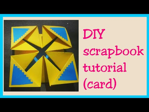 How to make Scrapbook Pages/  Cards Ideas/ DIY Scrapbook Tutorial (part 1)