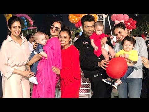 Rani Mukherjee's Daughter Adira's 2nd Birthday Party 2017 - Taimur,Kareena,SRK,Abram