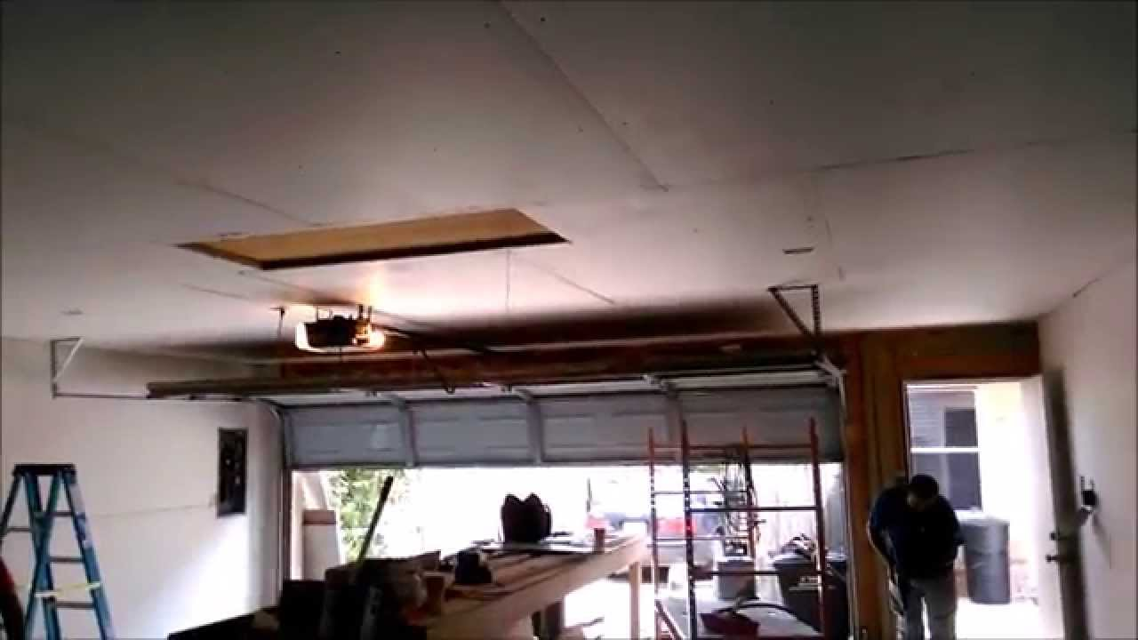 Garage Sheetrock Installation