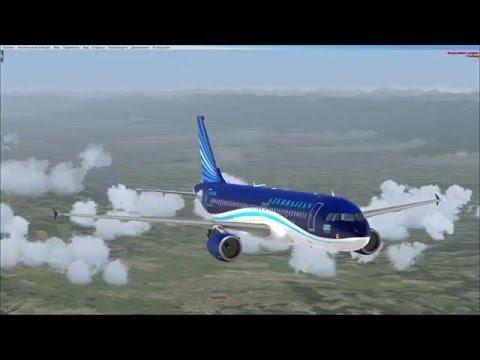 Gəncə - Bakı FSX Airbus A320 Azerbaijan Airlines