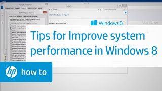 Tips for Improving System Performance in Windows 8