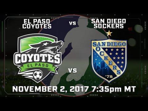 El Paso Coyotes vs San Diego Sockers