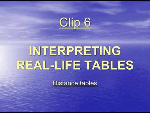 e23 Distance Tables