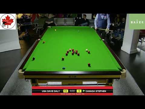 CANADA VS USA- FINALS:  FRAME 1, SNOOKER EXHIBITION IN SEATTLE, WA