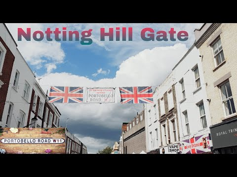 Portobello Road Market || Street Food at West London Close to Notting Hill Gate