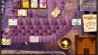 Jewel Quest Solitaire 2: level 4 complete with 5 perfects in a row!