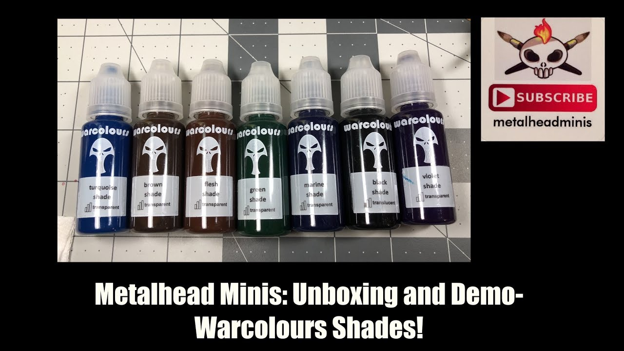Metalhead Minis: Unboxing and Demo- Warcolours Shades!