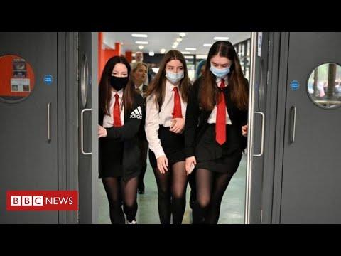 Boris Johnson defends change of advice on masks in English schools- BBC News