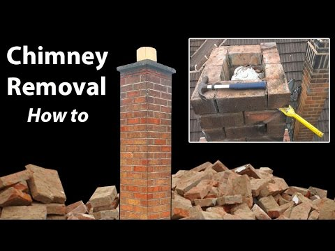 removing a chimney below roof level how to youtube. Black Bedroom Furniture Sets. Home Design Ideas