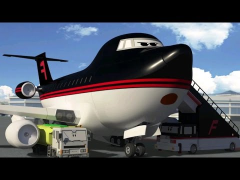 Cartoons about cars and planes - The Airport Diary - Amazing Aerial Refueling (cartoon 4)