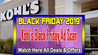 Kohl's Black Friday 2019 Ad, Deals & Offers - Kohls Black Friday Cash Deals 2019