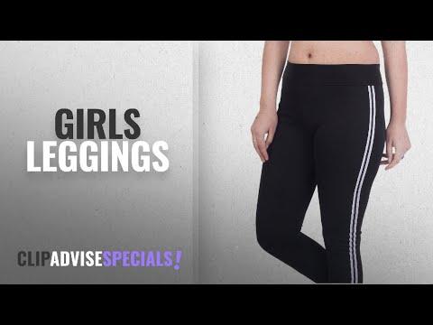 Top 10 Girls Leggings [2018]: Blinkin yoga gym and active sports fitness Black Stribes Leggings