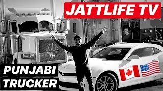 PUNJABI TRUCKERS GOING USA ON TRUCK FROM CANADA. JATTLIFE TRUCKLIFE. MUST WATCH.