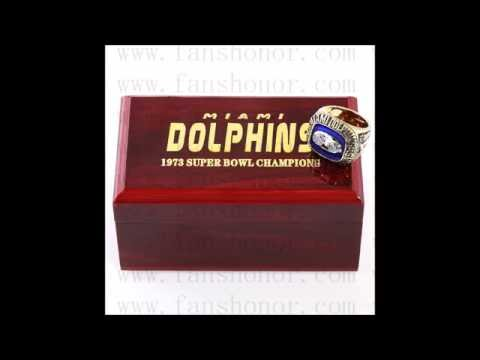 Custom NFL 1973 Super Bowl VIII Miami Dolphins Championship Ring