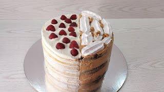 Как собрать 2 РАЗНЫХ торта в ОДНОМ сразу идеально РОВНО торт СНИКЕРС и МОЛОЧНАЯ ДЕВОЧКА