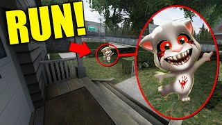 If You See Creepy BABY TALKING TOM Outside Your House, RUN AWAY FAST!!