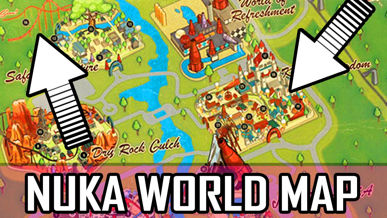 Fallout 4 Nuka World Map Map Map Secret Locations Much More