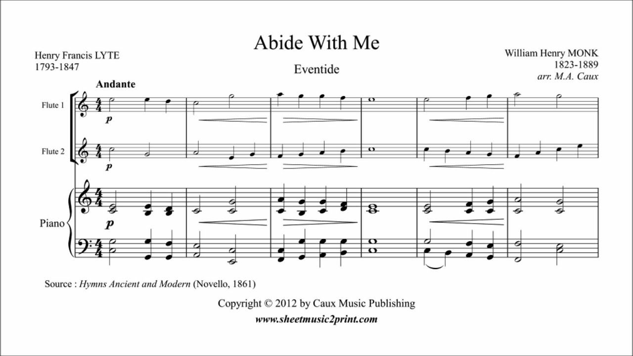 Abide With Me - Flute Duet - YouTube