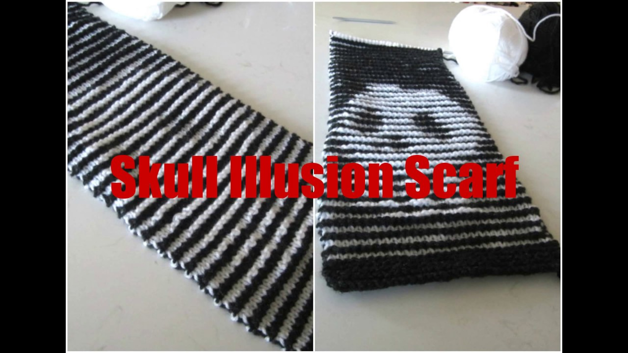 Skull Illusion Knit Scarf So Cool Youtube