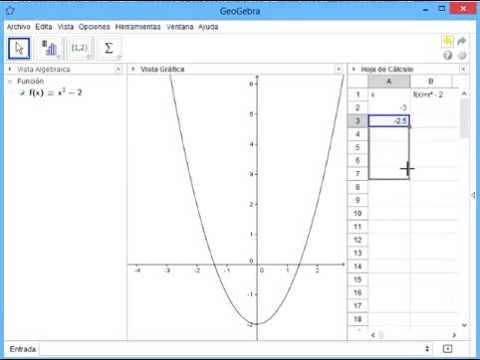 Hoja de cálculo para tabular funciones matemáticas - YouTube