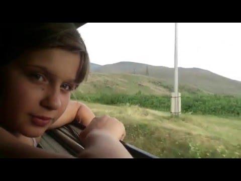 Поезд Ереван- Батуми. Едем по Армении.