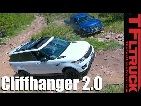 Ford F-150 SVT Raptor vs Range Rover Sport vs Cliffhanger 2.0 Extreme Off-Road Mashup Review