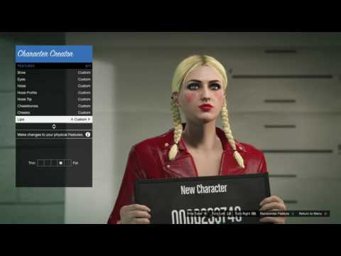 GTA 5 Harley quinn Character creation