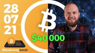 Bitcoin útočí na $40 000 📈 | Amazon 🛒 a kryptoměny | Muskovo usmíření 🏳️ - CEx 28/07/2021
