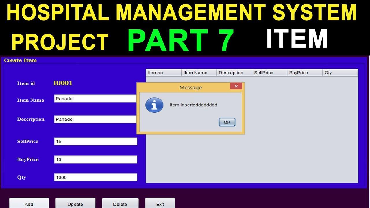 Hospital Management System project in Java Mysql Part 7