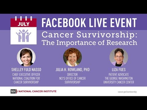 Facebook Live Event Cancer Survivorship: The Importance of Research