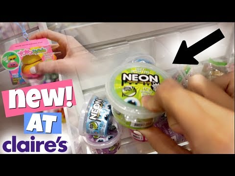 NEW SLIME & SQUISHIES AT CLAIRE'S! | MALL VLOG