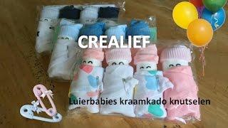 Luiertaart babies leuk kraamkado babyshower voor zwangere knutselen DIY