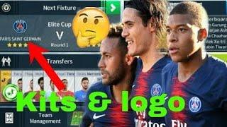 How To Create Paris Saint Germain (PSG) Team Kits & Logo | Dream League Soccer 2019