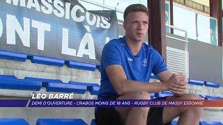 Léo Barré, rugbyman originaire de Versailles sélectionné en équipe de France U18