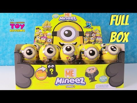 Minions Mineez Series 1 Full Box Pack Blind Bag Toy Review | PSToyReviews