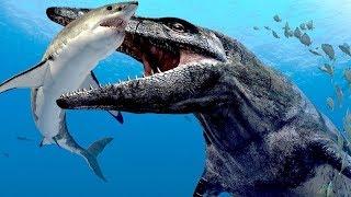 Megalodon VS Mosasaurus. Who Would Win?