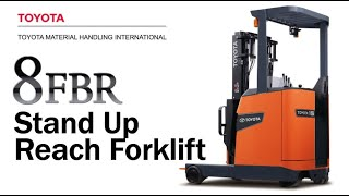 Toyota 8FBR Stand Up Reach Battery Electric Forklifts