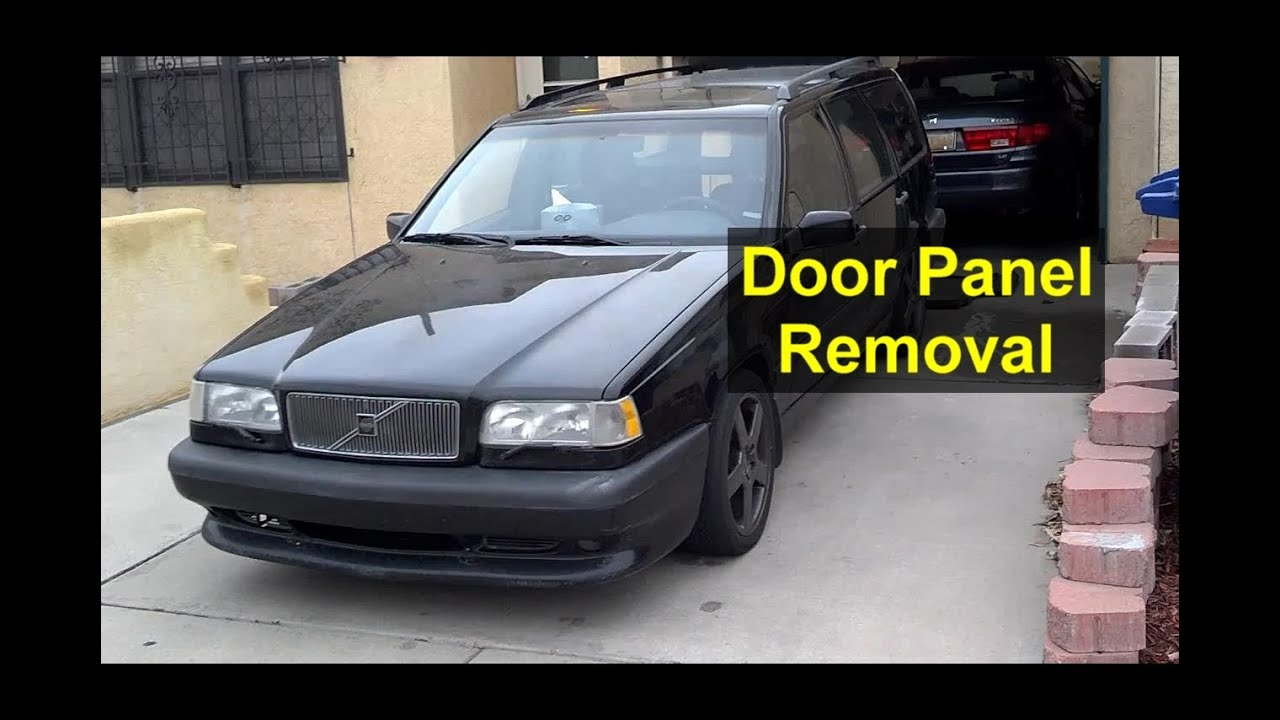 Front Door Panel Removal And Installation On A Volvo 850
