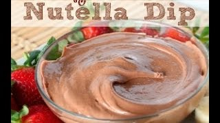 How To Make Creamy Nutella Fruit Dip | Snack | Six Sisters Stuff