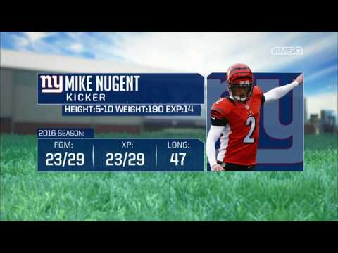 Mike Nugent Engaged in Camp Battle for Kicking Job | New York Giants | MSG Networks