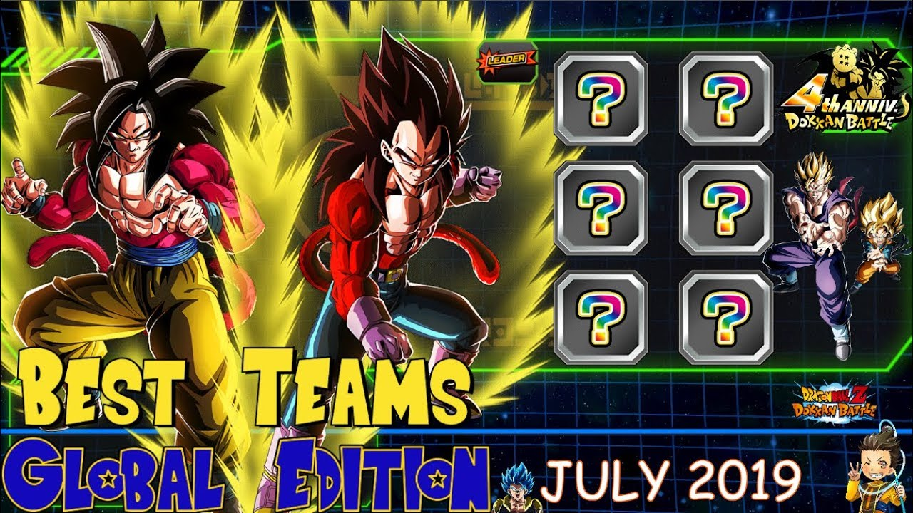Best Teams Dokkan Battle Global - JULY 2019 Edition | DBZ Dokkan Battle (4  Year Anniversary)