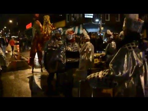 Winter Solstice Parade 2015 - Drummers & Stilt Walkers @Kensington Market, Toronto