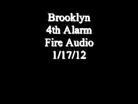 Brooklyn 4th Alarm Dispatch & Fireground Audio 1/17/12