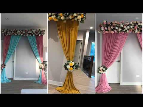 """Unboxing & Decorating """"AliExpress"""" products  part 1 Diy- Tall multiple  backdrops"""