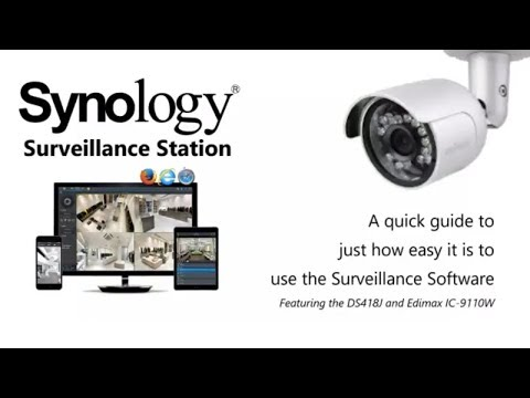 Synology Surveillance Station + DS418J + Edimax IC-9110W