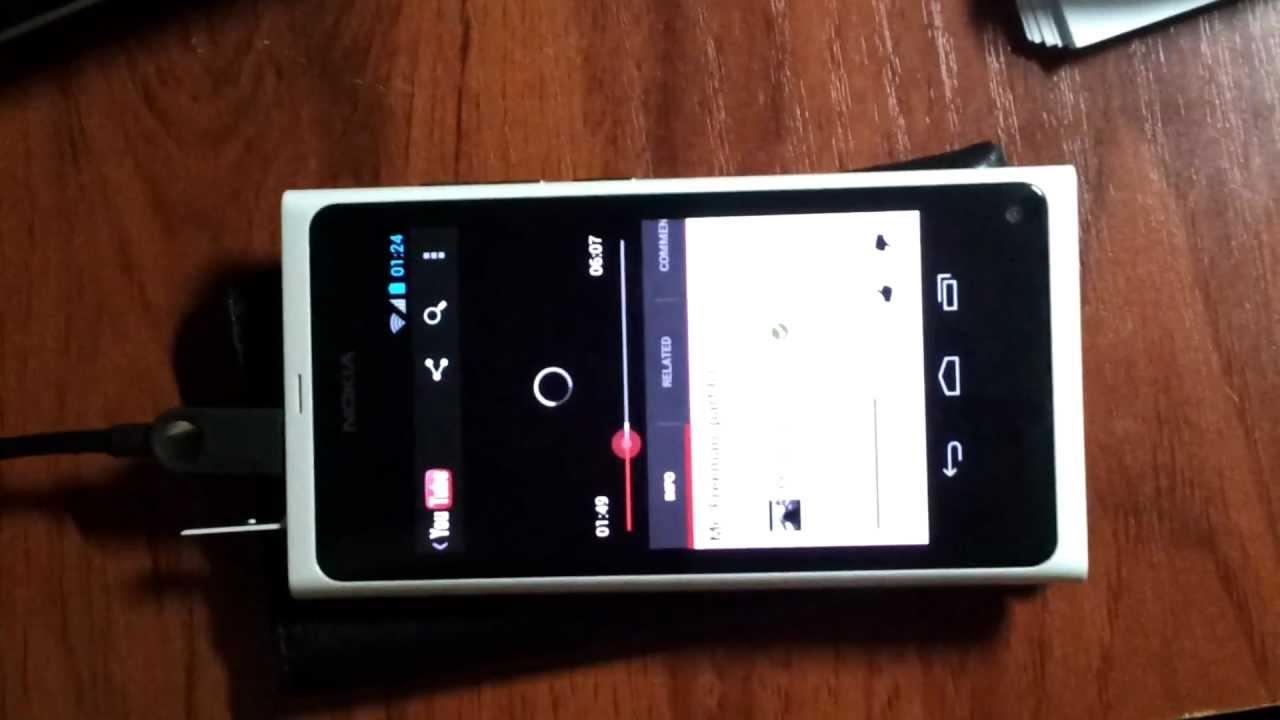 Nokia N9 running