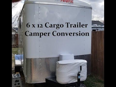 6 x 12 Cargo Trailer Camper Conversion
