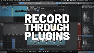 How to Record Through Plugins in #StudioOne